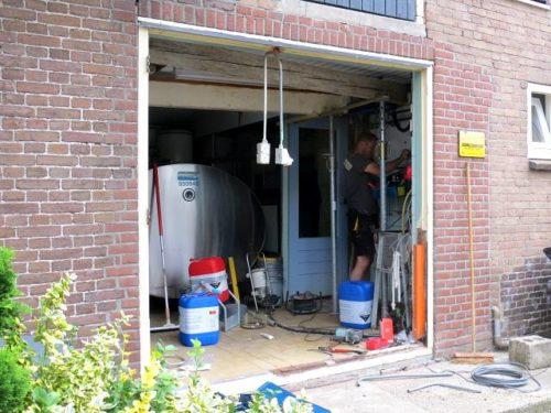 Renovate melkstal en tanklokaal